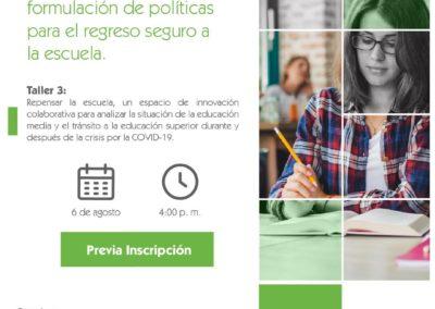INVITACIÓN: Repensar la escuela: un espacio de innovación colaborativa para analizar la situación de la educación media y el tránsito a la educación superior durante y después de la crisis por la COVID-19