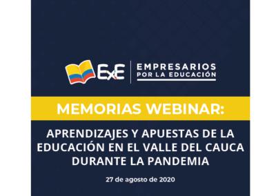 Memorias Webinar: 'Aprendizajes y apuestas de la educación en el Valle del Cauca durante la pandemia'