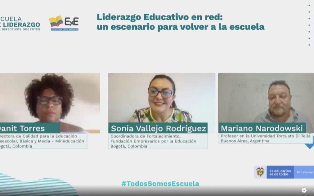 El Ministerio de Educación y la Fundación Empresarios por la Educación (ExE) realizaron el encuentro 'Liderazgo Educativo en red: un escenario para volver a la escuela'